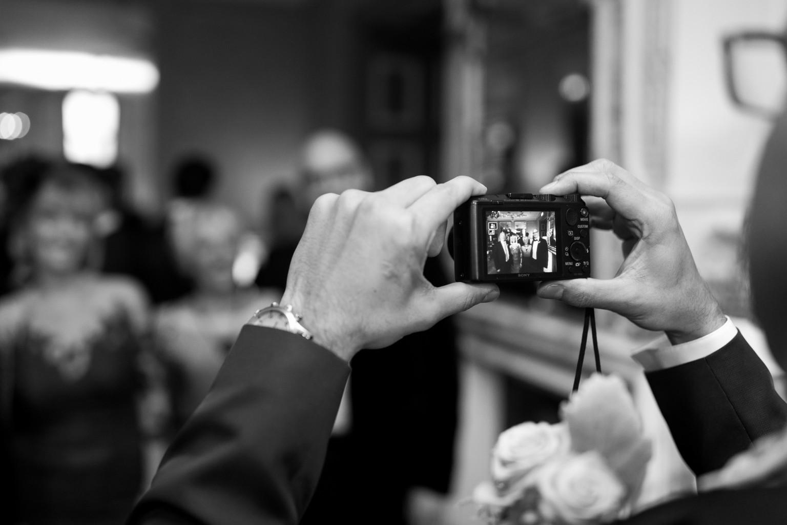 Foto's maken tijdens een huwelijk