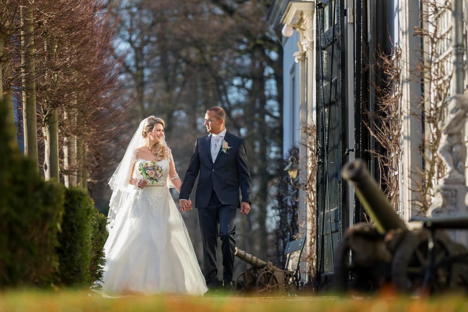 Bruidsreportage door bruidsfotograaf Peter Lammers bij Kasteel Engelenburg