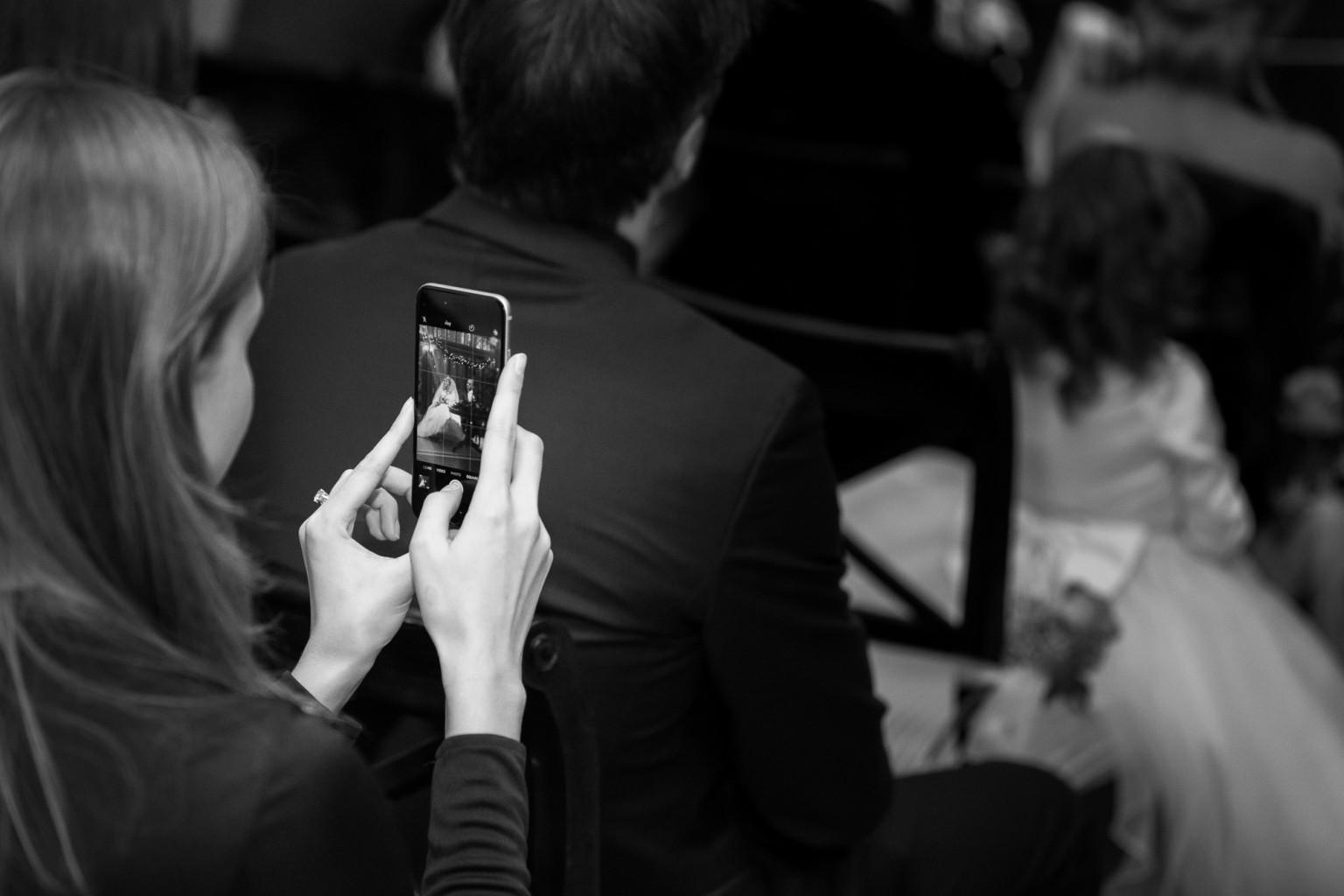 Iphone bij een huwelijk - offline