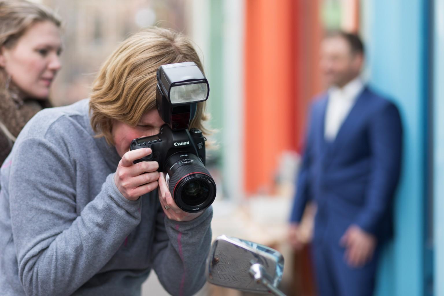 Praktijk bij de workshop bruidsfotografie