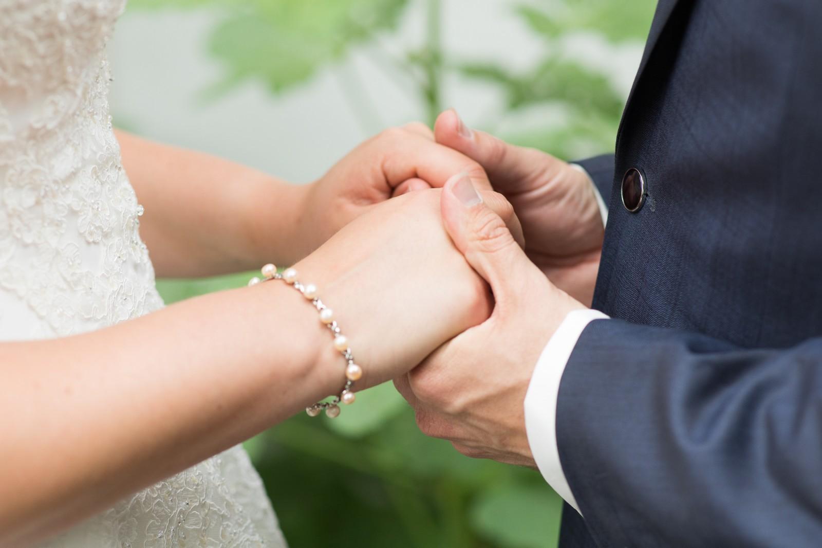Handen bruidspaar