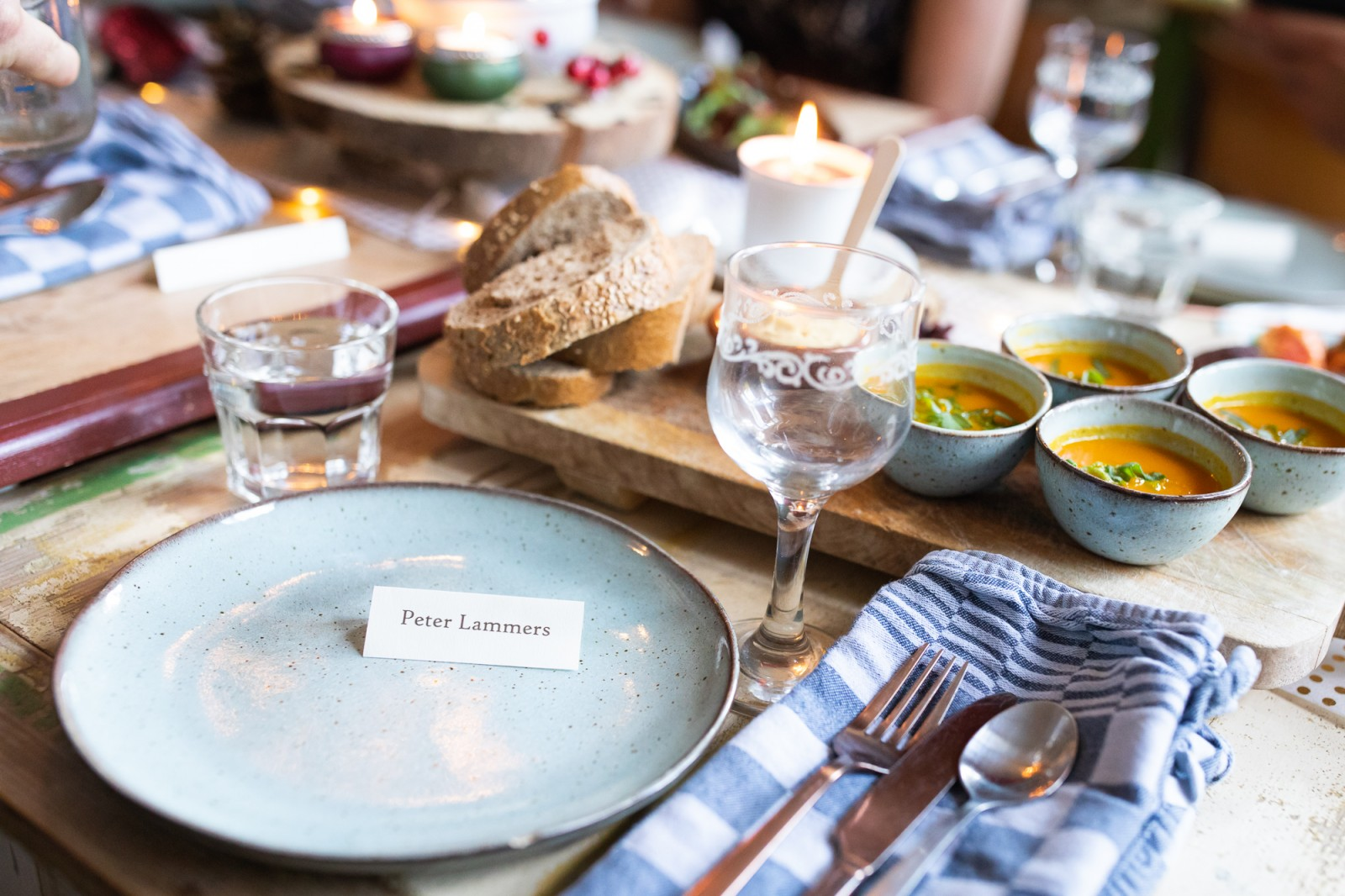 Diner bij Hotel Gaia - bruiloft - fotograaf Peter Lammers
