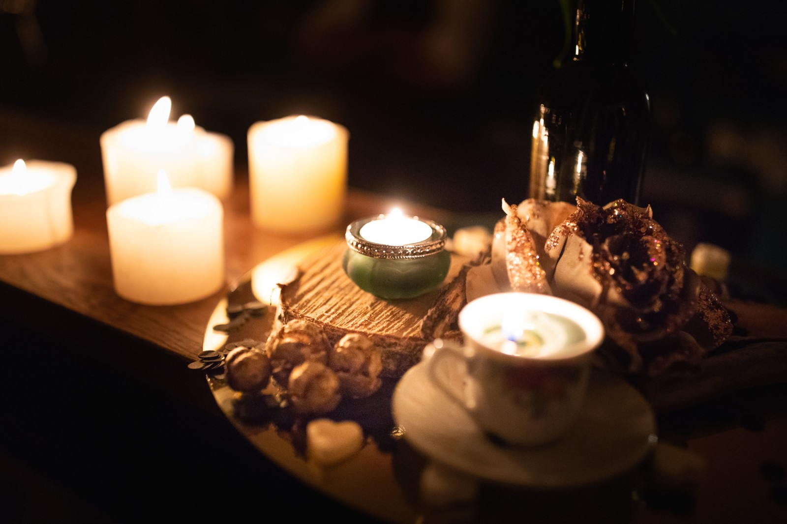 Kaarsen bij de ceremonie trouwen