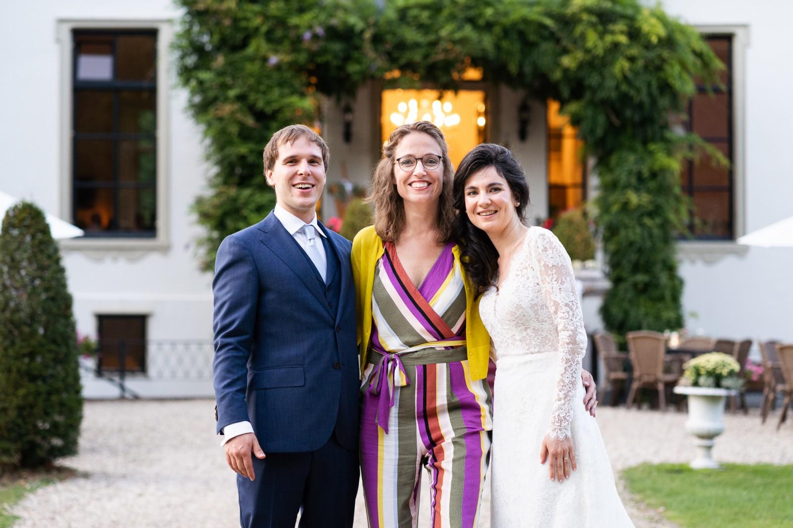 Weddingplanner Margiet Smit met bruidspaar Jiri en Maria