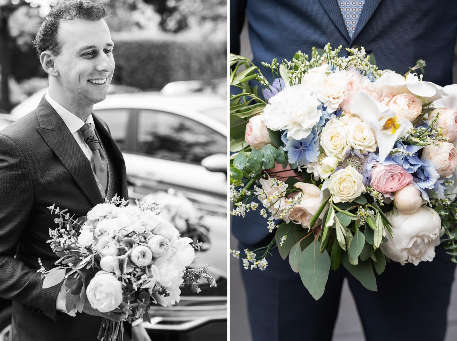 De eerste ontmoeting bruid en bruidegom