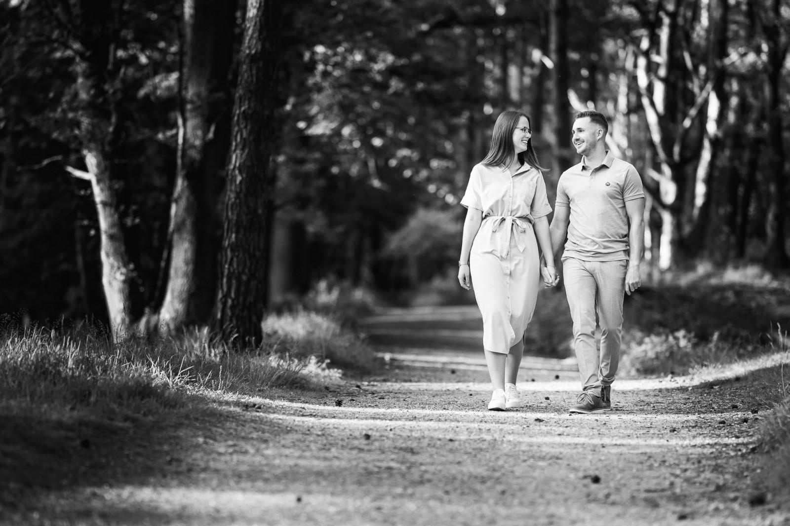 Loveshoot op de heide in Apeldoorn
