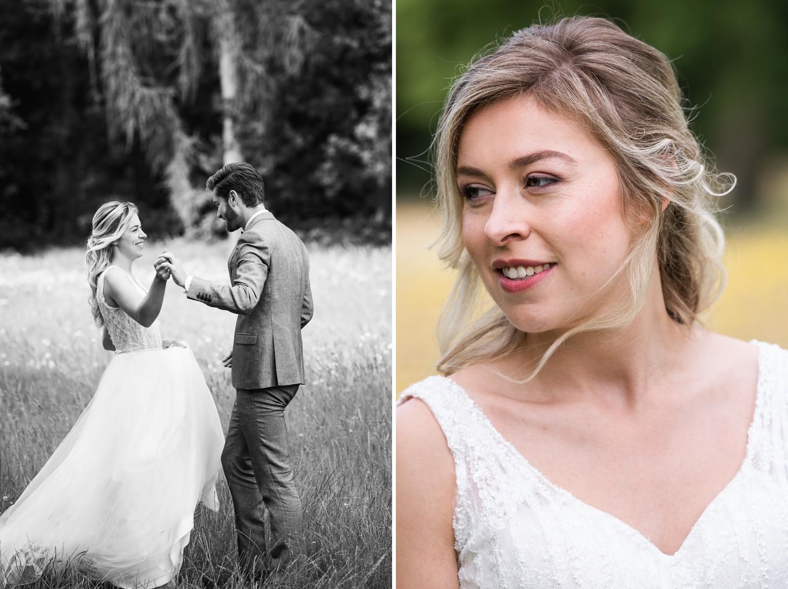 Een gelukkig bruidspaar